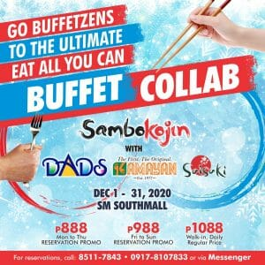 Sambo Kojin - Buffet Collab Promo for As Low As ₱888