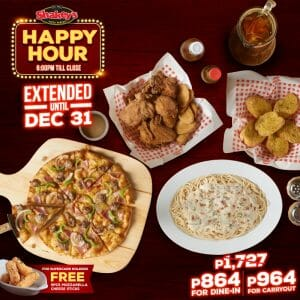 Shakey's - Happy Hour Extended Until December 31