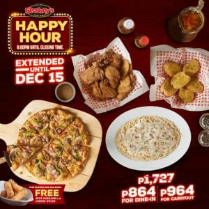 Shakey's - Happy Hour Extended Until December 15