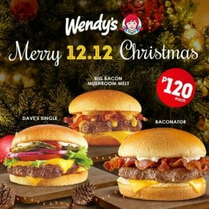 Wendy's - 12.12 Deal: Premium Burgers for ₱120