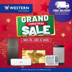 Western Appliances - Grand Christmas Sale: Big Savings + FREE Delivery