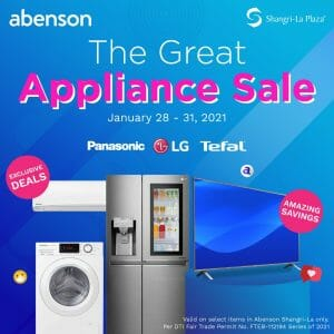 Abenson - The Great Appliance Sale at Shangri-La Plaza