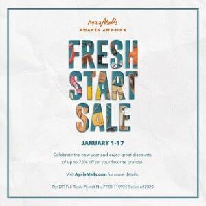 Ayala Malls - Fresh Start Sale: Get Up to 75% Off