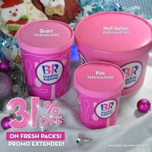 Baskin-Robbins - Extended: Get 31% Off Fresh Packs