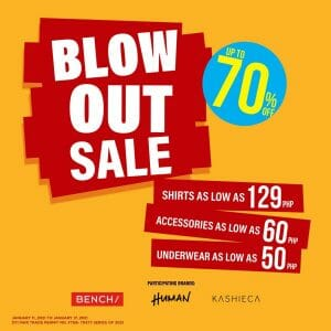 Bench | Human | Kashieca - Trinoma Blow Out Sale: Up to 70% Off
