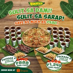Binalot - Save As Much As ₱380 on Food Packages via Shopee