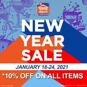 Cw Home Depot - New Year Sale: Get 10% Off on All Items