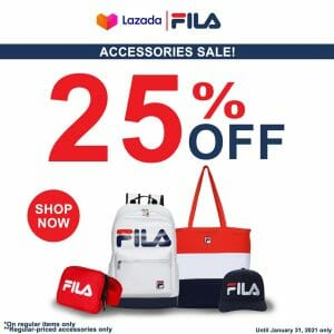 FILA - Accessories Sale: Get Up to 25% Off via Lazada