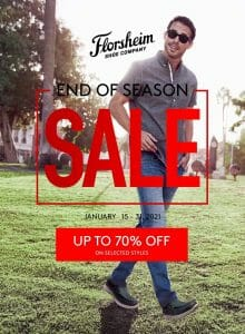 Florsheim - End of Season Sale: Up to 70% Off on Selected Styles