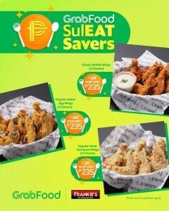 Frankie's New York Buffalo Wings - GrabFood SulEAT Savers Promo