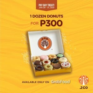 J.CO Donuts & Coffee - Get a Dozen Donuts for ₱300 via GrabFood