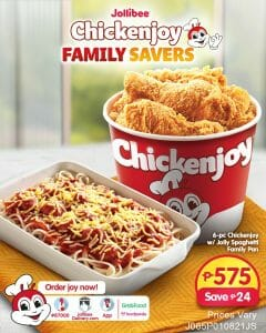 Jollibee - Chickenjoy Family Savers for ₱575 (Save ₱24)
