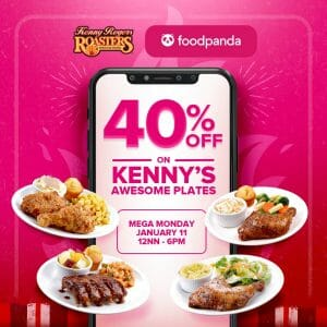 Kenny Rogers - Get 40% Off on Kenny's Awesome Plates via FoodPanda