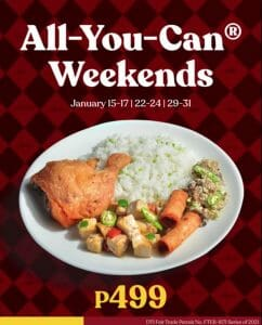 Max's Restaurant - All-You-Can-Weekends Promo for ₱499