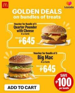 McDonald's - Big Mac or Quarter Pounder with Cheese Bundles for ₱645 (Save ₱100) via Lazada