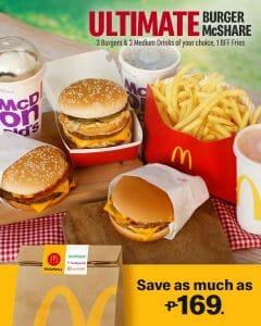 McDonald's - Ultimate Burger McShare Promo for ₱499