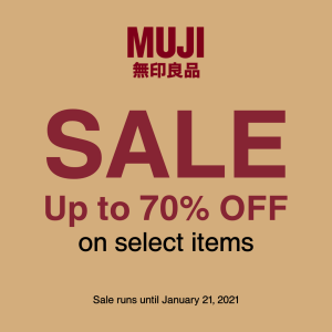 MUJI - Get Up to 70% Off on Select Items