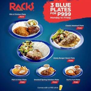 RACKS - Get 3 Blue Plates for ₱999