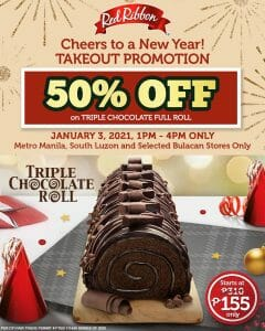 Red Ribbon - Get 50% Off on Triple Chocolate Full Roll