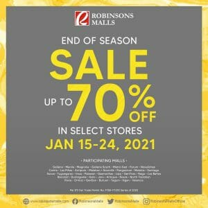 Robinsons Malls - End of Season Sale: Up to 70% Off in Select Stores