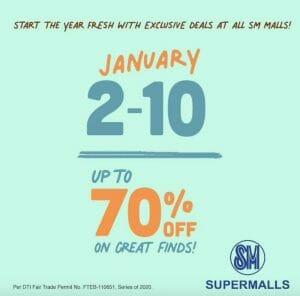 SM Malls - Fresh Start Sale: Up to 70% Off