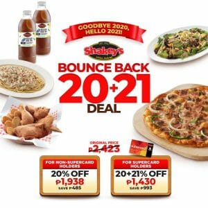 Shakey's - Bounce Back 20+21 Deal