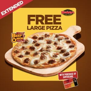 Shakey's - Super Treat Promo Extended: FREE Large Pizza When You Purchase a SuperCard