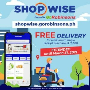 Shopwise - GoRobinsons FREE Delivery Promo Extended