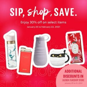 Starbucks - Sip, Shop, Save Promo: Get 30% Off on Select Items