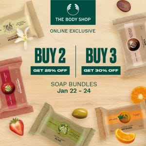 The Body Shop - Get Up to 30% Off on Soap Bundles
