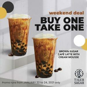 Tiger Sugar - Weekend Deal: Buy 1 Take 1 Brown Sugar Cafe Latte