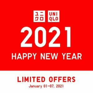 Uniqlo - New Year Limited Offers + FREE Delivery