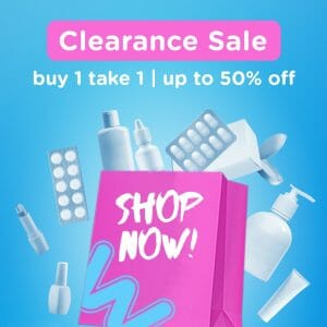 Watsons - Clearance Sale: Buy 1 Take 1 and Up to 50% Off Deals