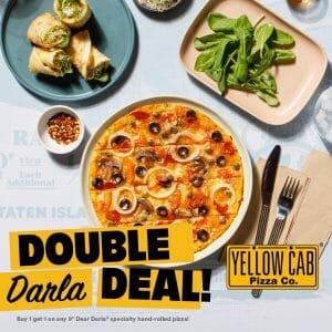 Yellow Cab Pizza - Buy 1 Take 1 on Dear Darla Pizzas