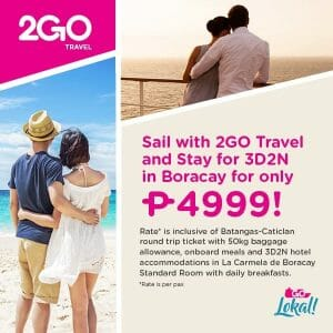 2GO Travel - Sail and Stay Package for ₱4,999 per Person