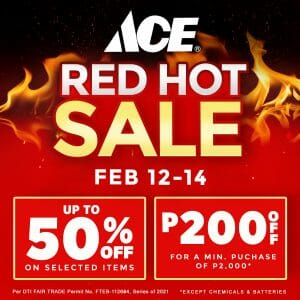 ACE Hardware - Red Hot Sale: Up to 50% Off and ₱200 Off Deals