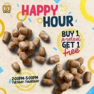 Auntie Anne's - Happy Hour: Buy 1 Get 1 Promo