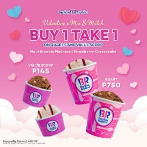 Baskin-Robbins - Buy 1 Take 1 on Quarts and Value Scoop