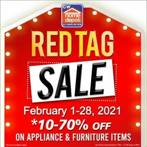 CW Home Depot - Red Tag Sale: Get 10%-70% Off