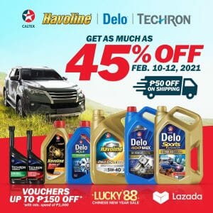 Caltex - Get Up to 45% Off on Delo and Havoline Engine Oils via Lazada