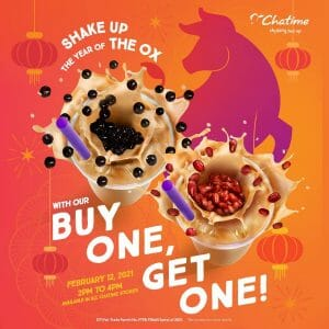 Chatime - Buy 1 Get 1 Promo