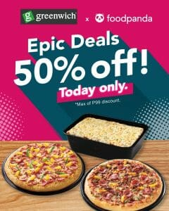 Greenwich Pizza - Epic Deals: Get 50% Off on Orders via Foodpanda