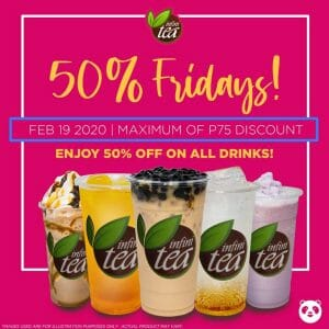 Infinitea - Get 50% Off on All Drinks via Foodpanda
