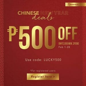 Ipanema - Get ₱500 Off on ₱2,000 Minimum Spend