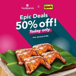 Mang Inasal - Epic Deals: Get 50% Off via Foodpanda