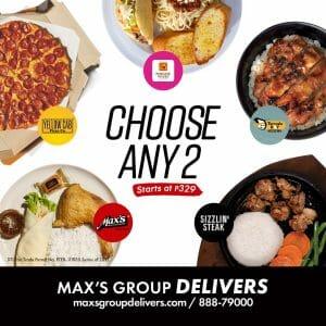 Max's Group - Choose Any 2 Promo Starting at ₱329