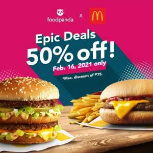 McDonald's - Get 50% Off on Orders via Foodpanda