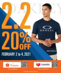 Oakley - 2.2 Deal: Get 20% Off on Lazada and Shopee