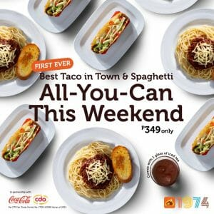 Pancake House - Best Taco in Town and Classic Spaghetti All-You-Can for ₱349