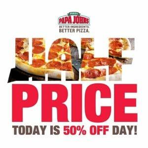 Papa John's Pizza - Get 50% Off on Premium Family-Sized Pizzas